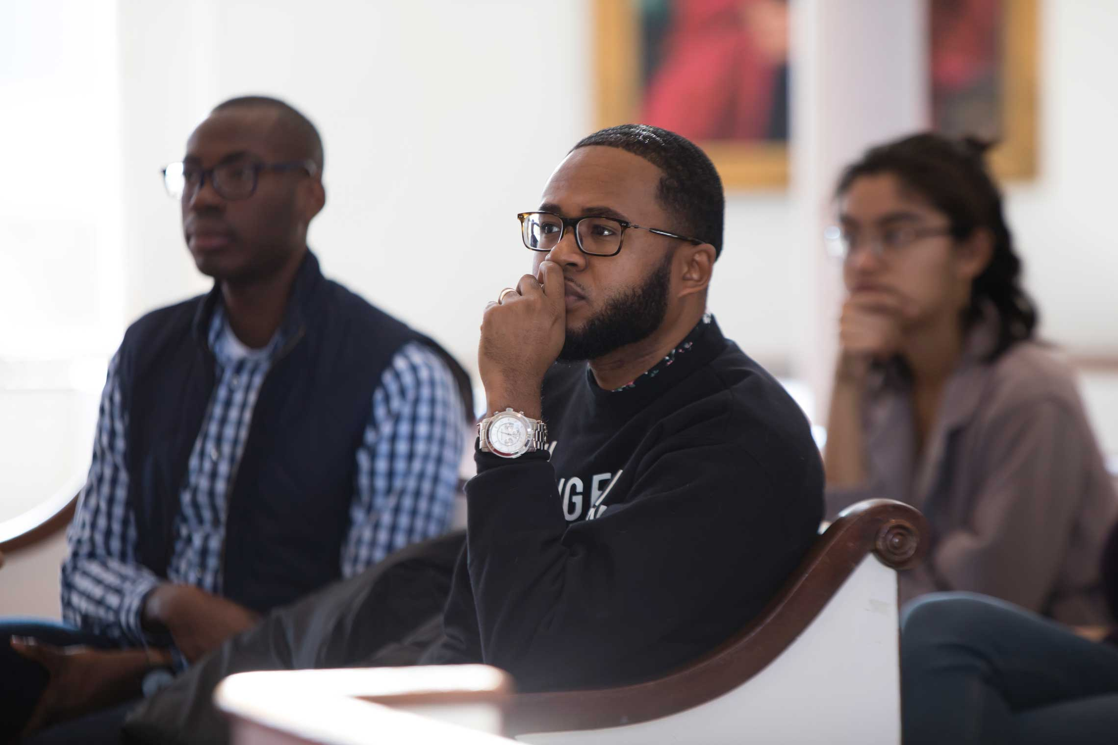 Audience members listening to Sonia Sanche's keynote address at the second annual Dr. Martin Luther King Legacy Symposium