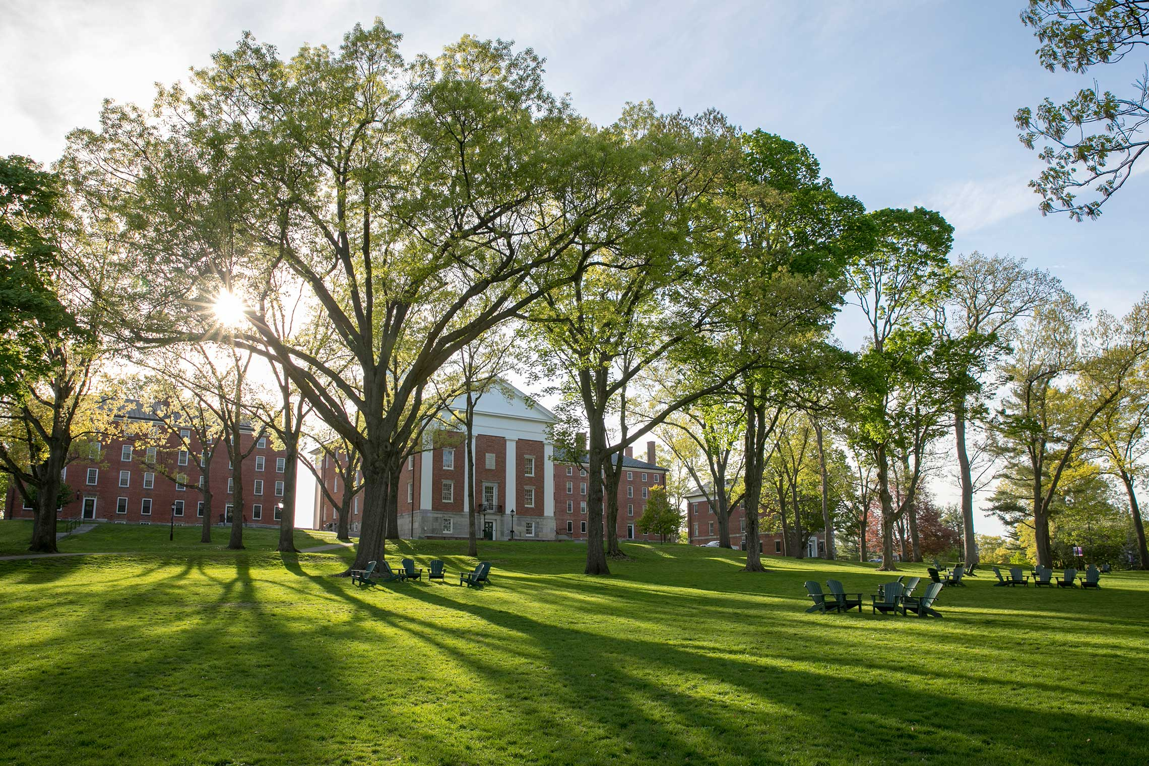 The Academic Quad in springtime
