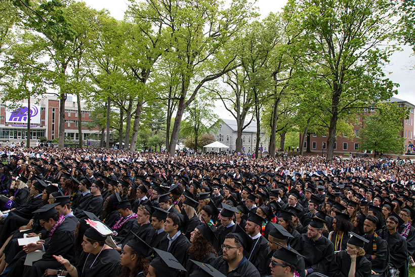 Graduates from Amherst College during Commencement
