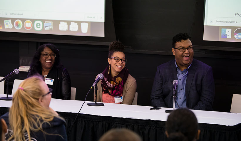 Panelists at StatFest 2018 Amherst College