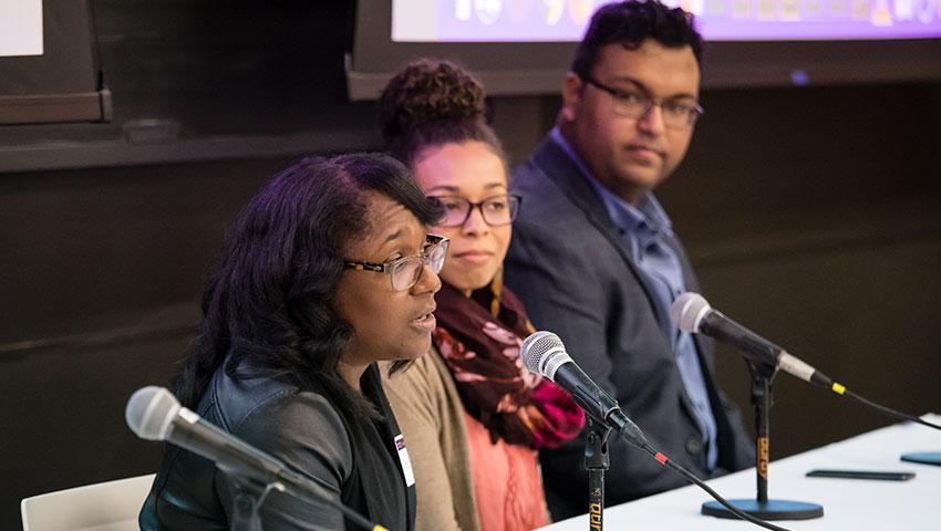 Panelists at StatFest 2018 Amherst College