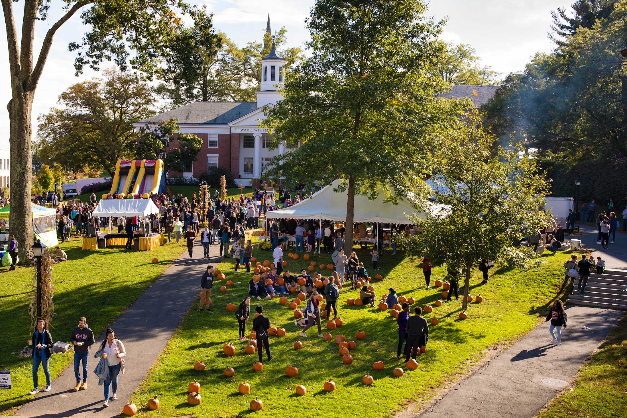 Visitors gather at the annual Fall Festival