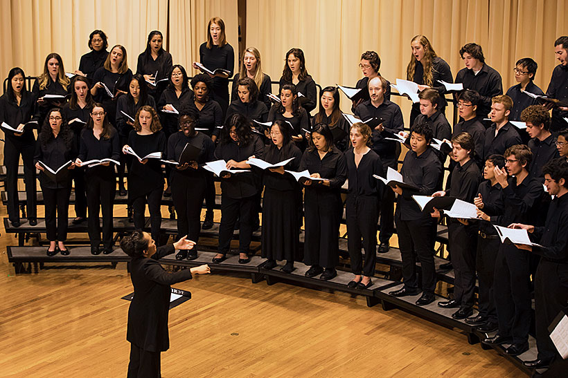 Choral Society performing