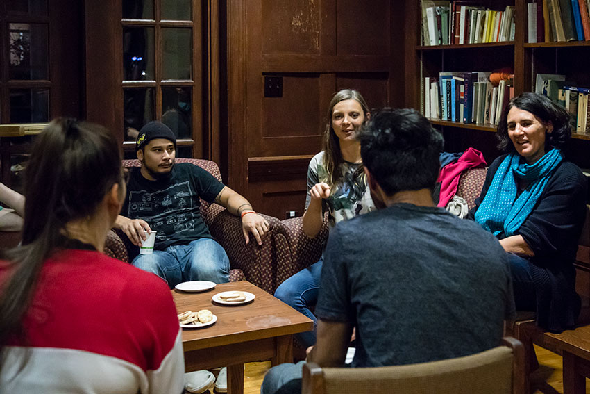 A weekly Kaffeeklatsch gathering provides an informal opportunity to speak to fellow students and faculty in German