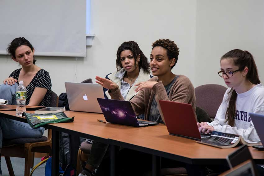 Students in Halie Cole's course, Culture, Race, and Reproductive Health