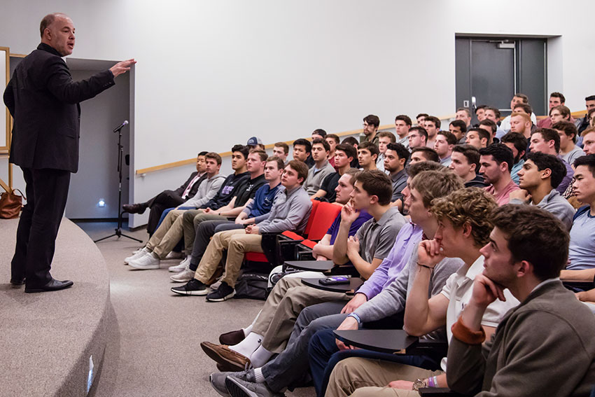 Jackson Katz speaking at Amherst College