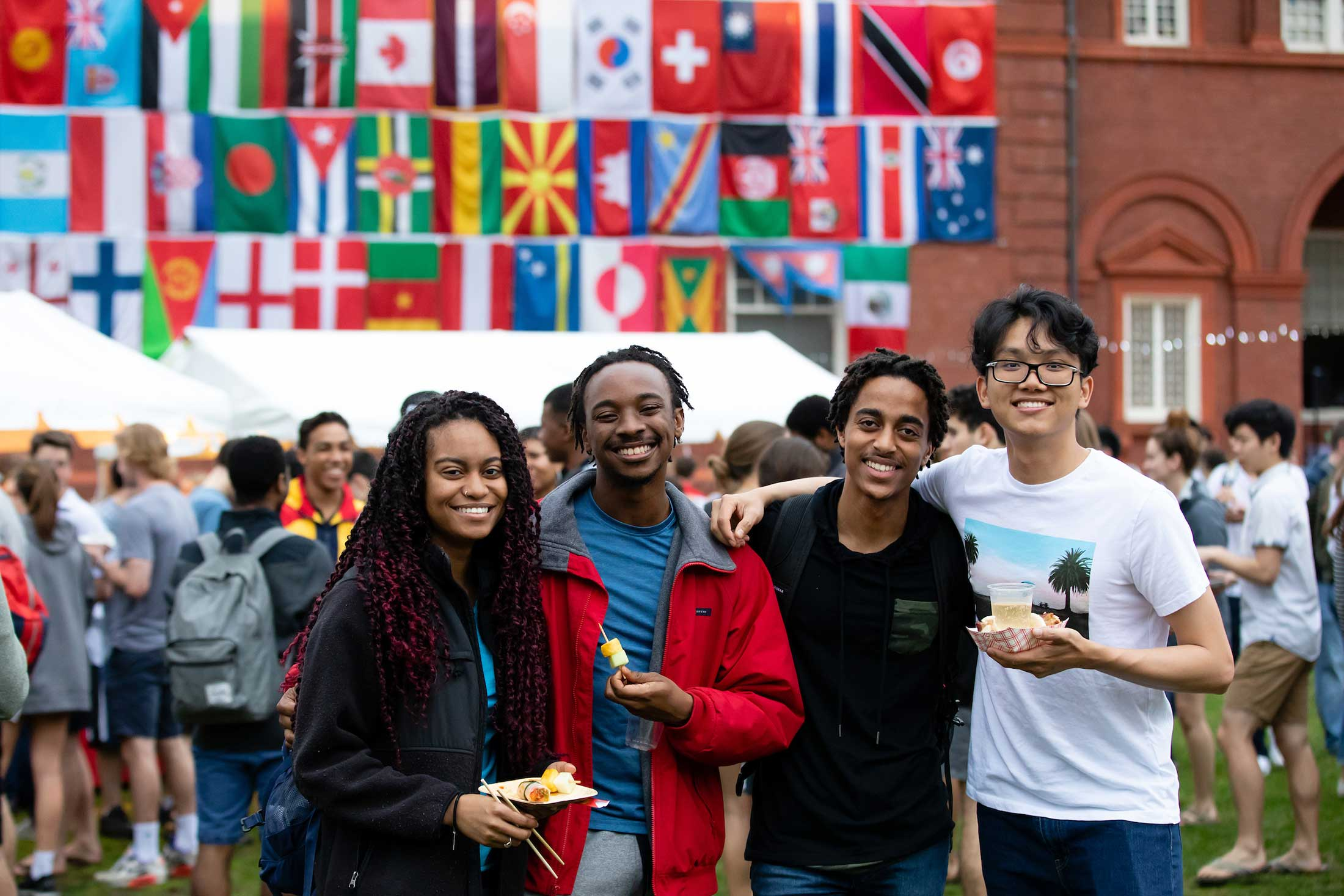 Students gather at the annual city streets festival