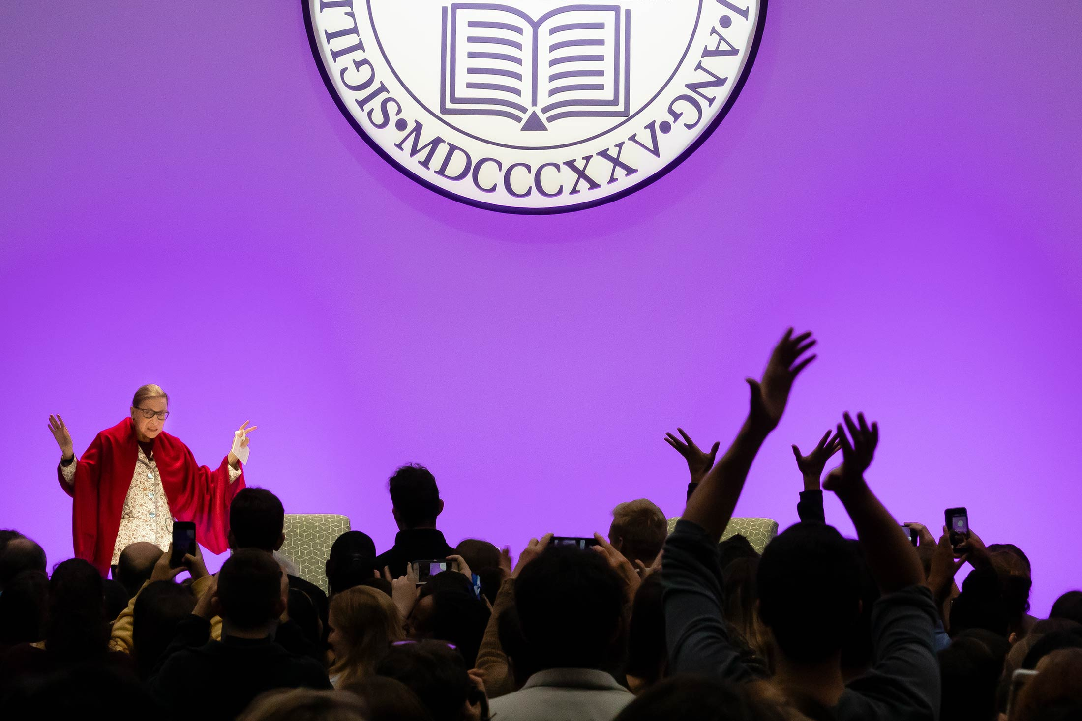 Ruth Bader Ginsburg visited Amherst College