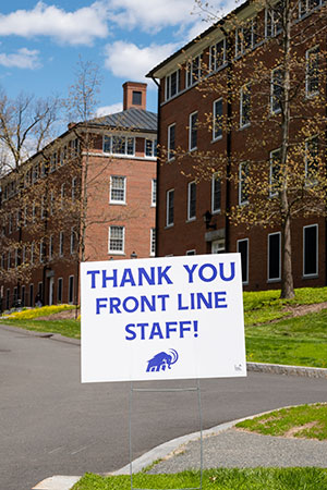 Thank you sign for front line staff