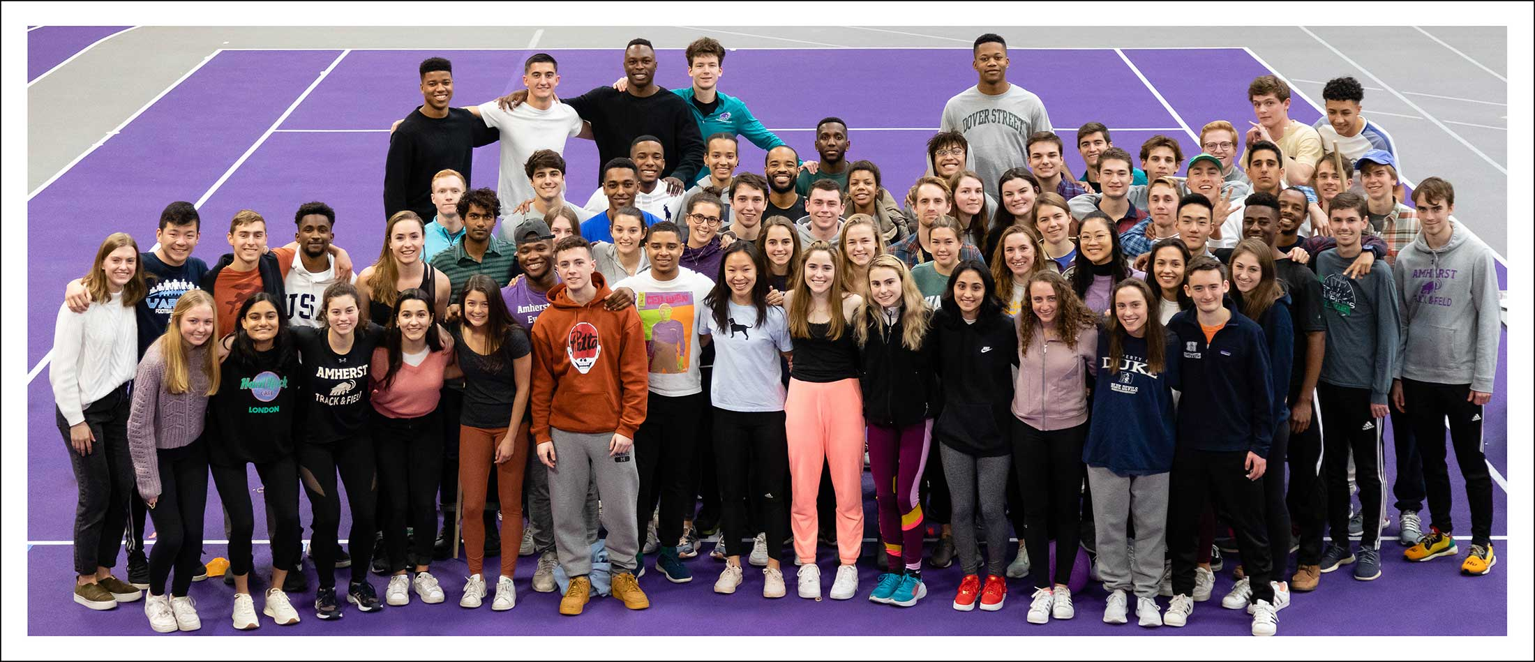 The Amherst College track and field team