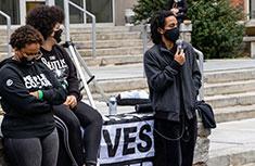 Black Lives Matter protest at Amherst College
