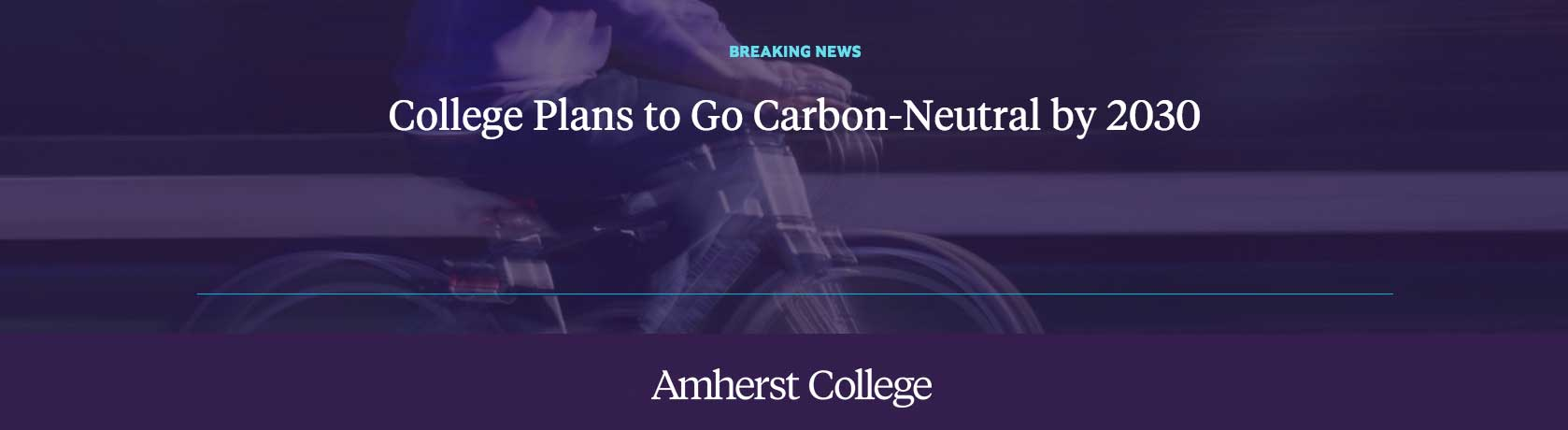 Amherst College plans to go carbon-neutral by 2030