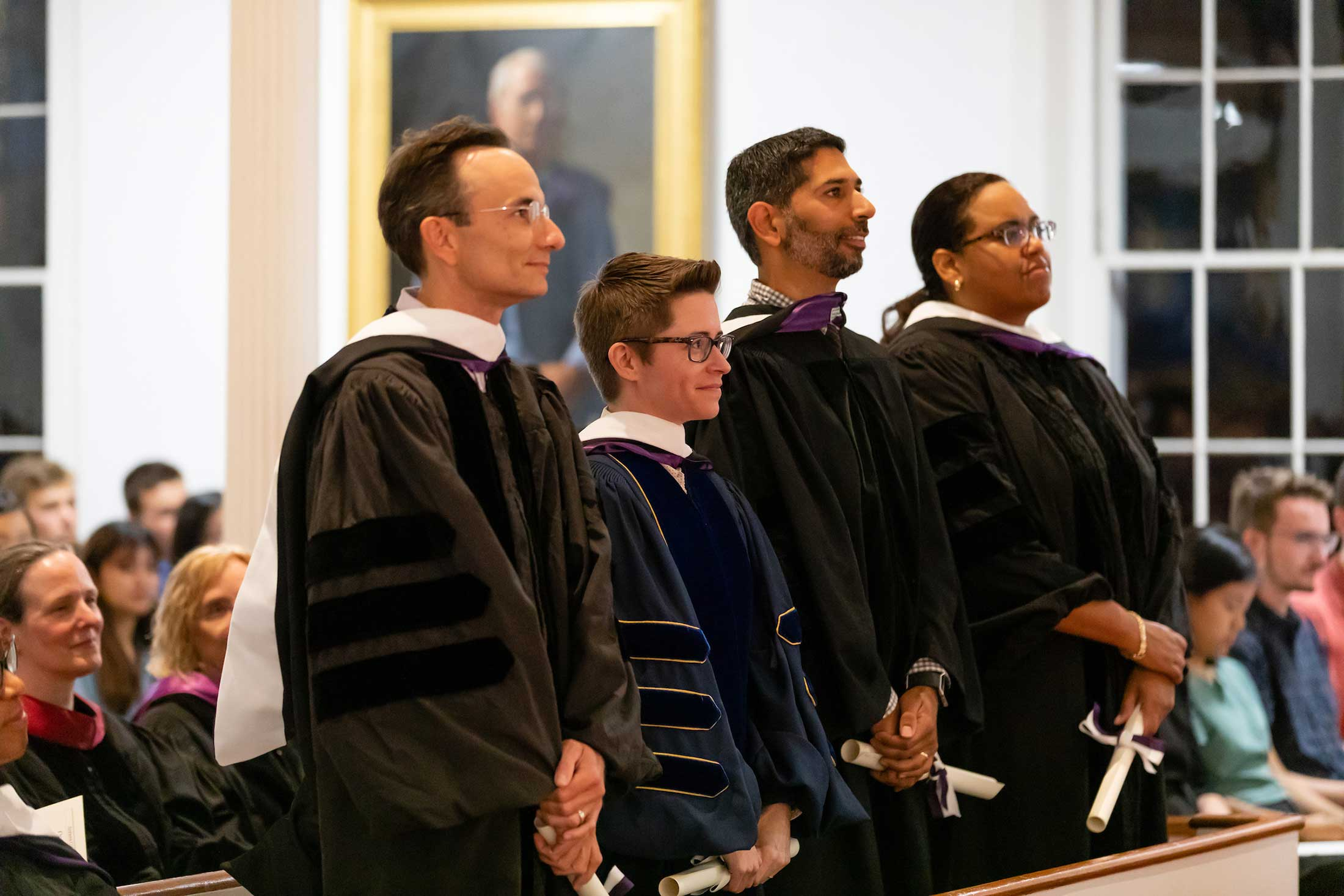 Four faculty receive honorary master's degrees during Convocation