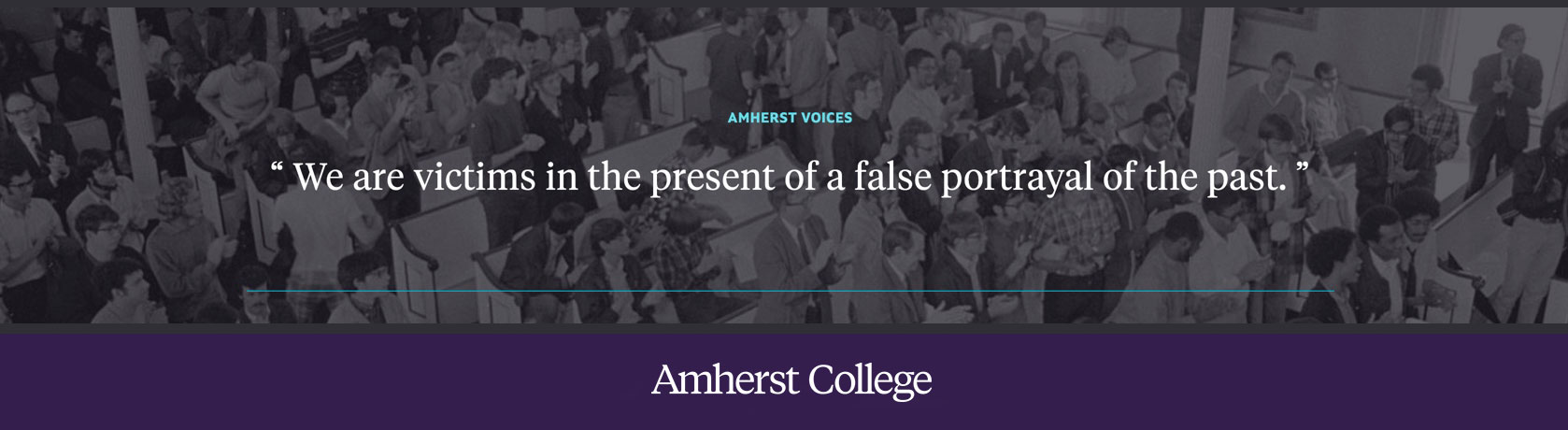 Quote from The Amherst Student about Ralph Ellison