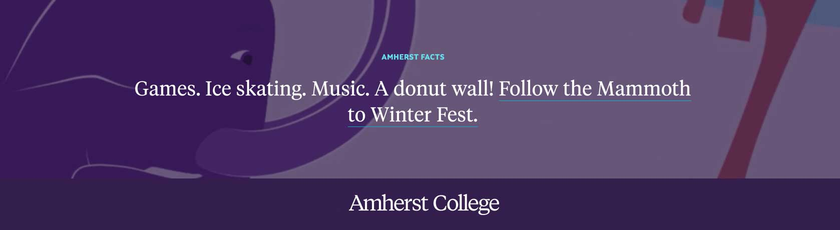Winter Fest on Sunday, Feb. 16, 2020, 6-8 pm in Coolidge Cage