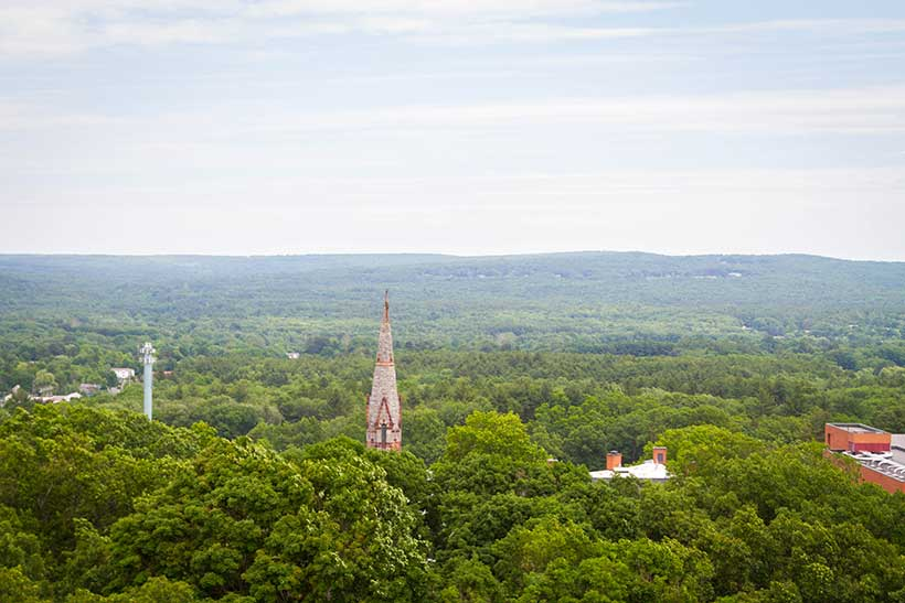 View from atop Johnson Chapel