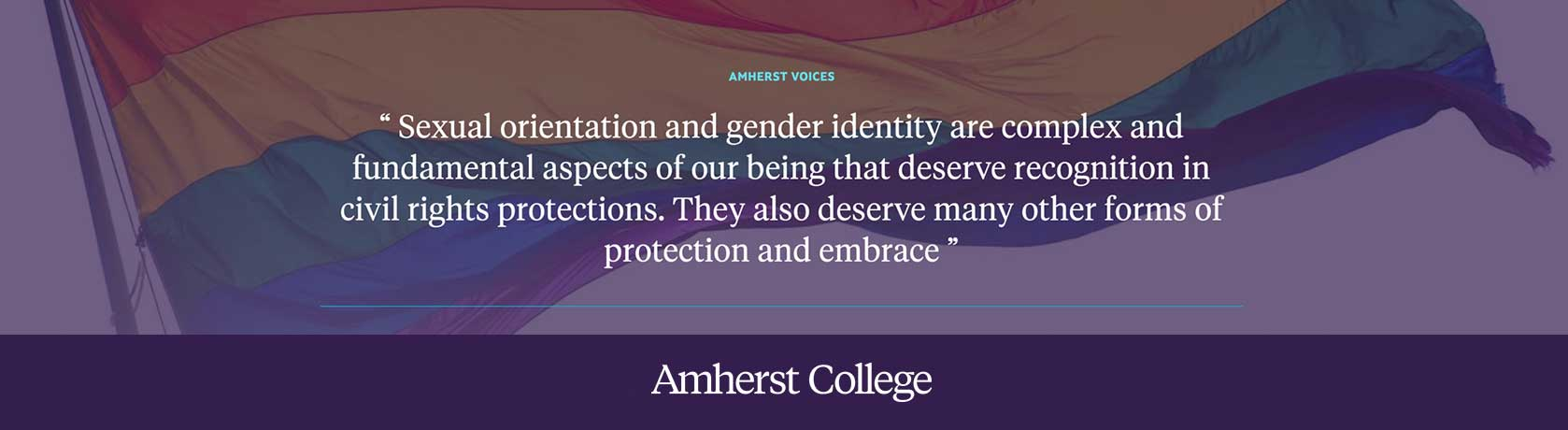 A quote by President Biddy Martin about LGBTQ Rights