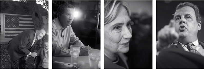 grid of 4 photos of candidates
