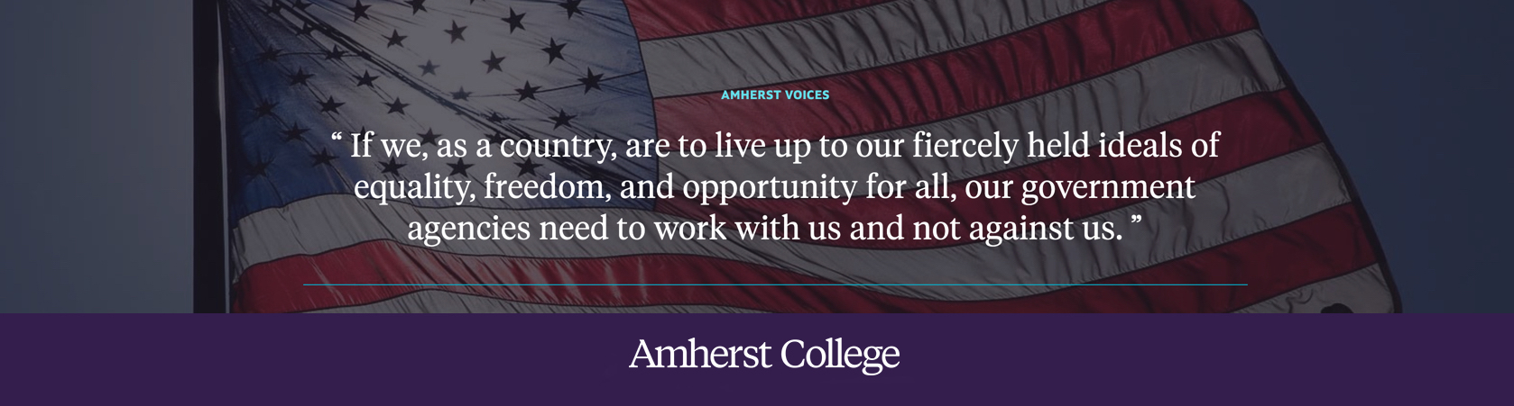 If we, as a country, are to live up to our fiercely held ideals of equality, freedom, and opportunity for all, our government agencies need to work with us and not against us.