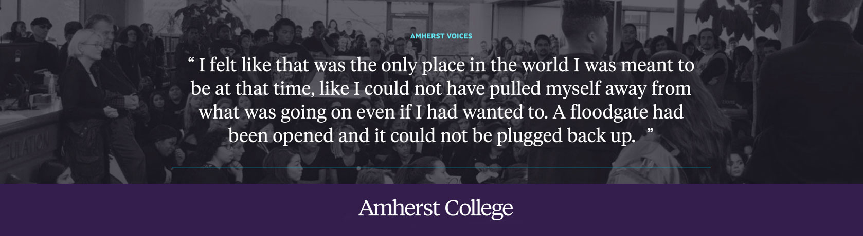 Quote about the Amherst Uprising
