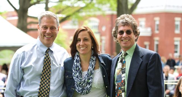 The three winners of the Swift Moore Teaching Award