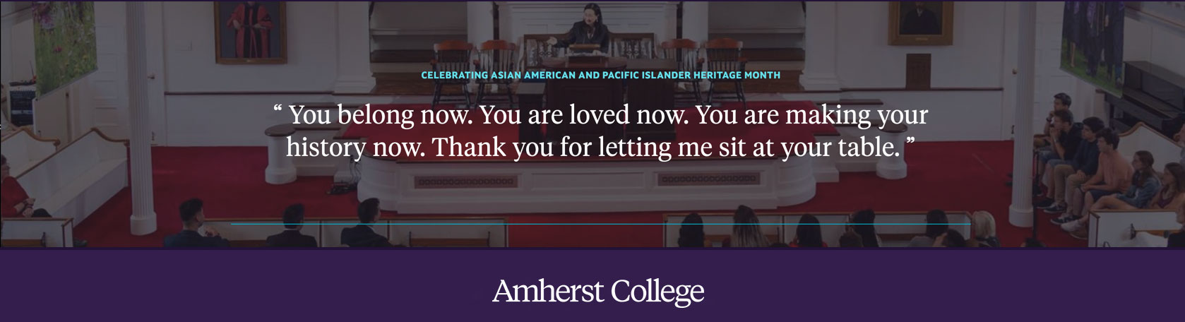 Quote by Min Jin Lee, visiting writer at Amherst College