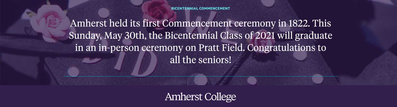 Bicentennial fact: First commencement ceremony at Amherst College was in 1822