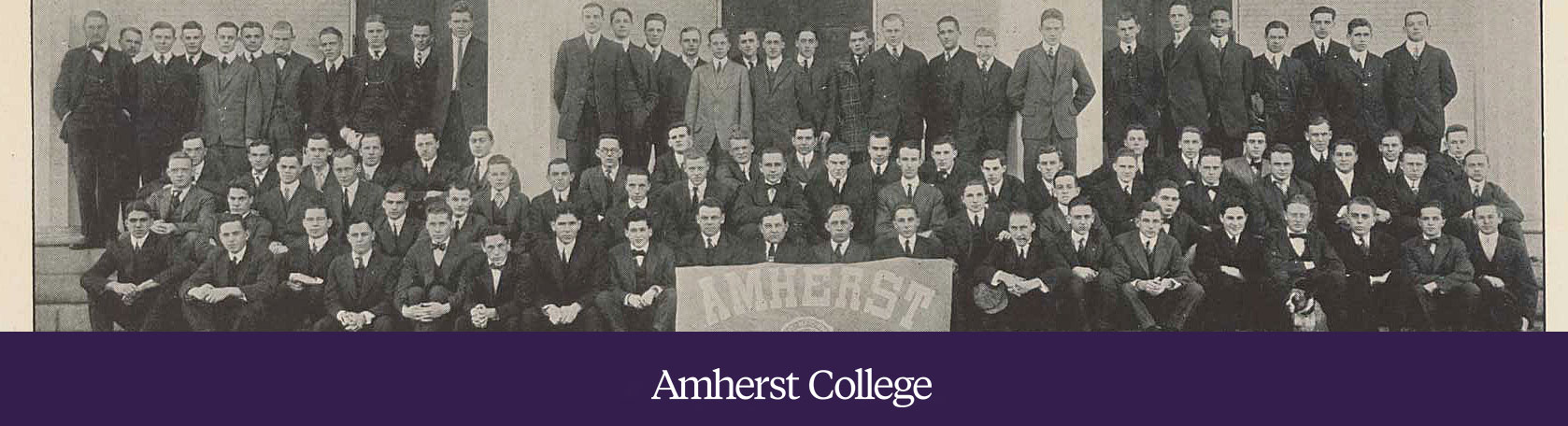 black and white image of the amherst class of 1815