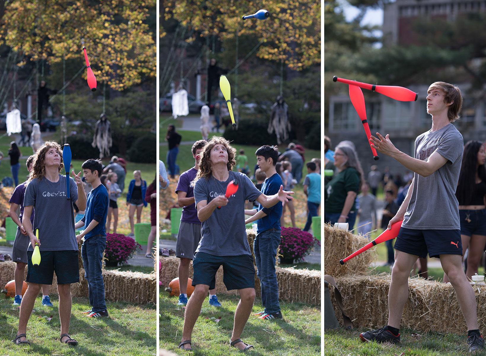 Jugglers at Fall Festival.