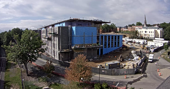 The interdisciplinary science center is taking shape on the eastern part of the campus.