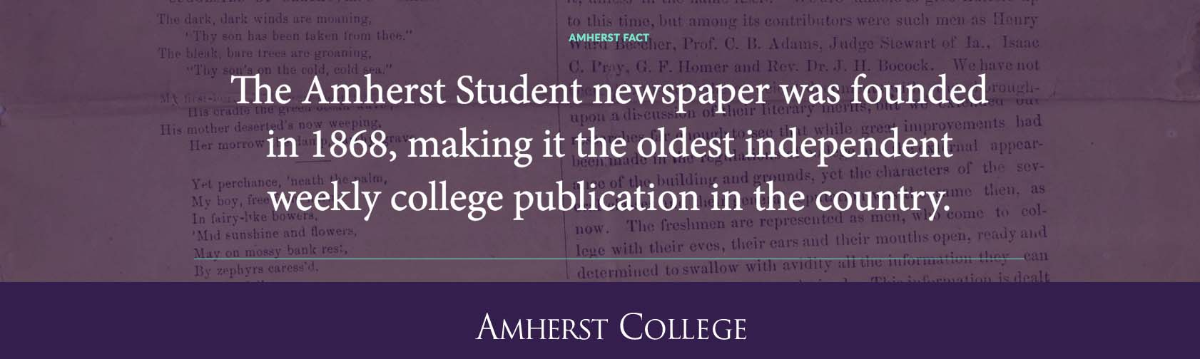 The Amherst Student Fact