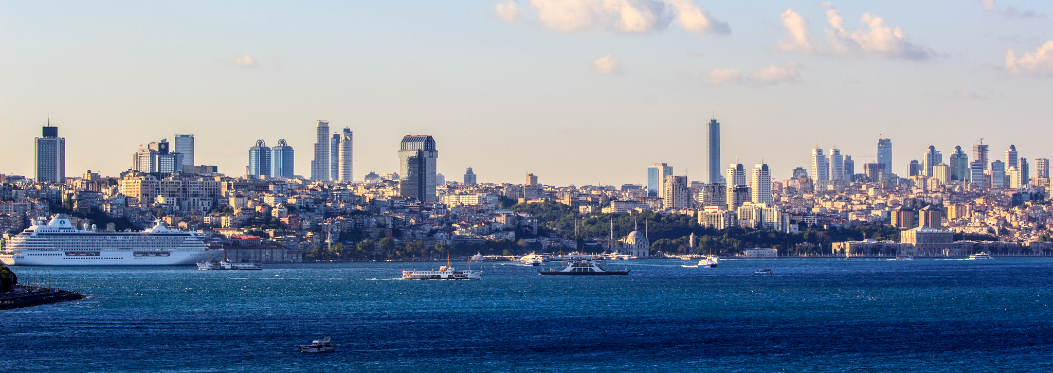 A beautiful skyline in Istanbul