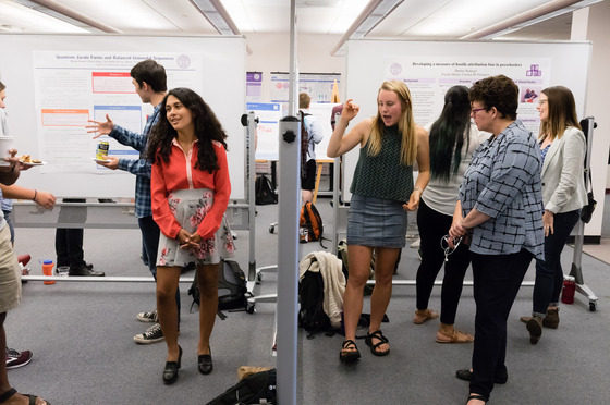 Students held poster sessions on the research they did this past summer.
