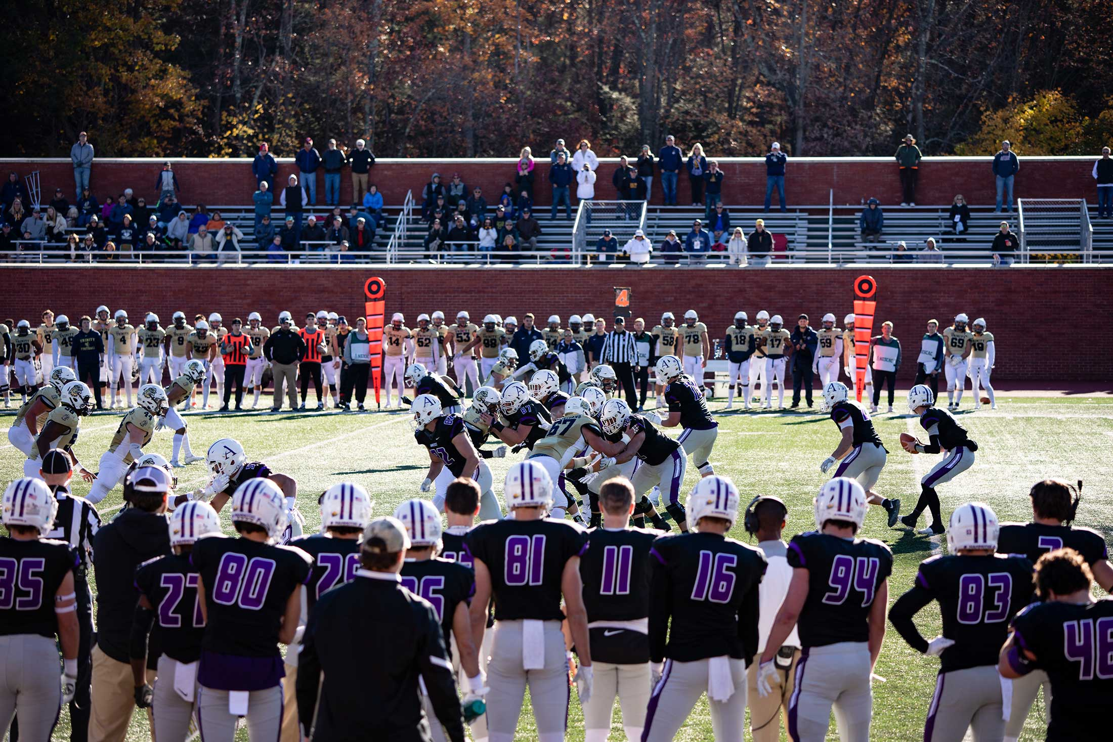 Football game between Amherst College and Trinity College
