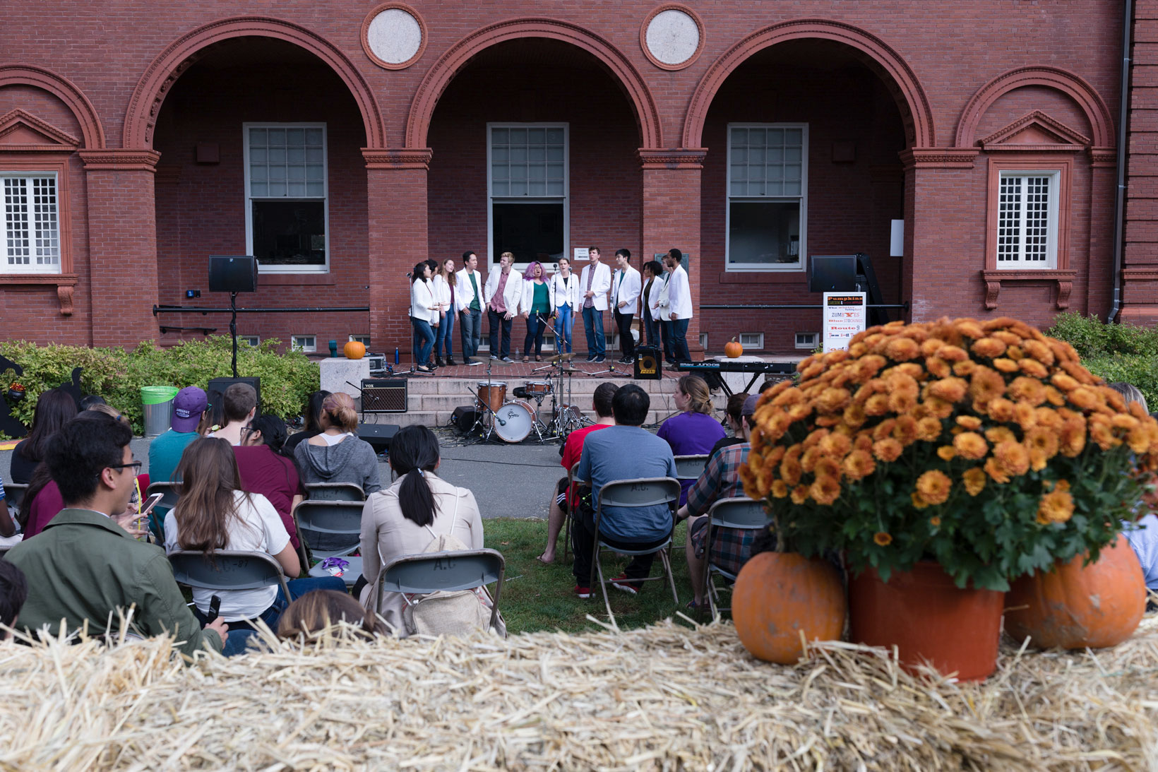 Singing performance at Fall Festival.