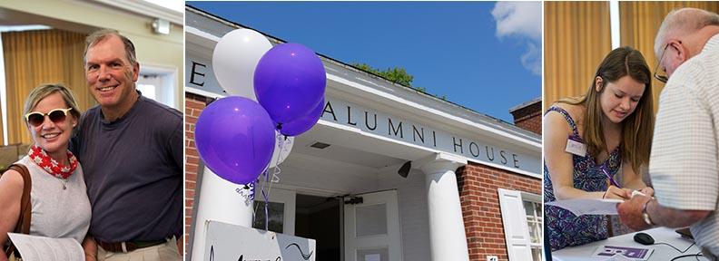 alumni house at reunion