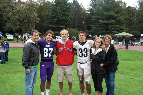The O'Malley family on the sidelines