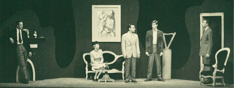 "Actors on stage performing ""The Birthday"""
