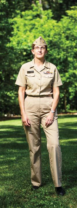 Dr. Inger Damon Æ84 in Public Health Service uniform