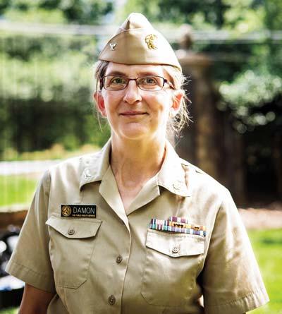 Dr. Inger Damon '84 in Public Health Service uniform