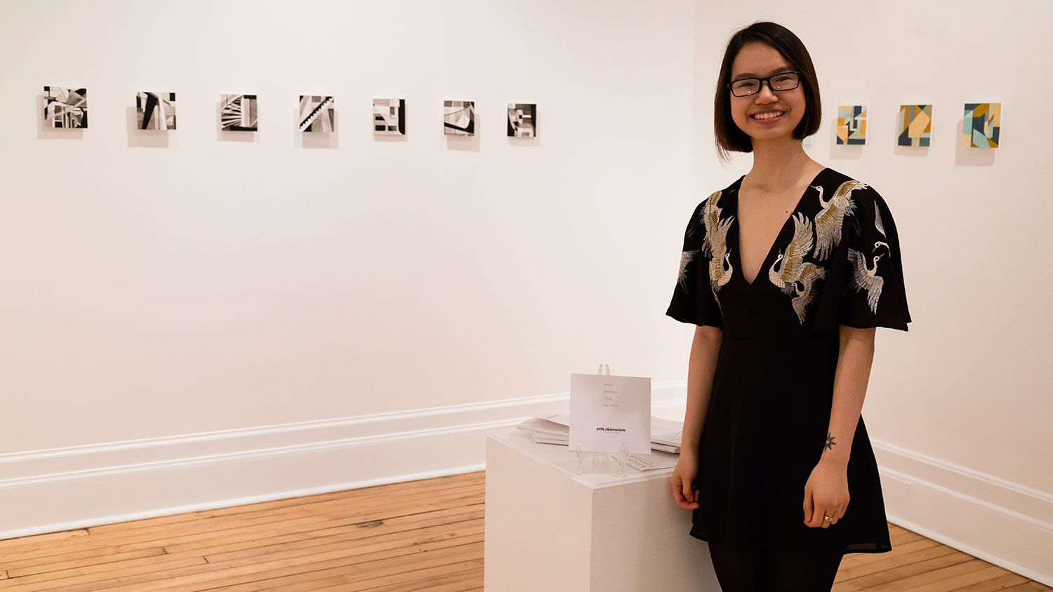 Portrait of An Hoang in her exhibition