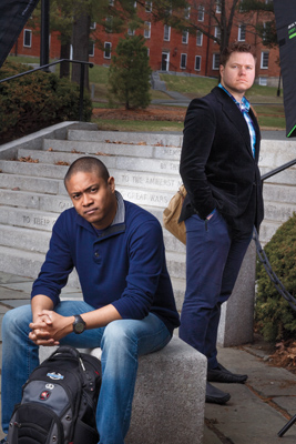 Jared Price '14 (right) and Michael Zeigbo Chioke '15