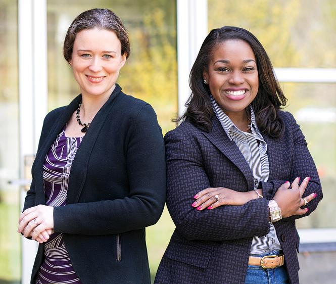 Assistant Political Science professors Kerry Ratigan and Ashley Burns