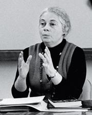 Rose Olver teaching, circa 1970