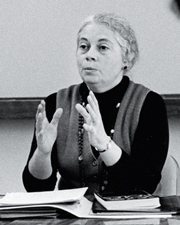 Rose Olver teaching, circa 1970