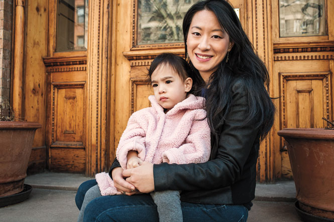Deanna Fei '99 with daughter Mila