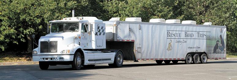 Recue Road Trips trailor truck