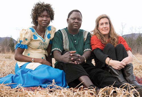From left,  Adieu Dau Thiong, Atem Deng and  Adrie Kusserow '88