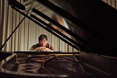 Daniel Ang '15 at piano