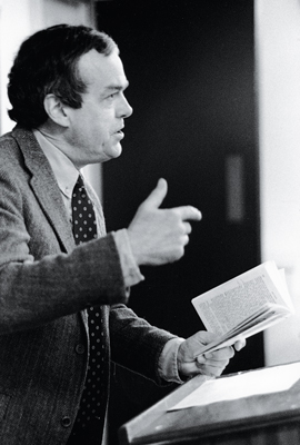 William H. Prichard '53 in class, 1995.